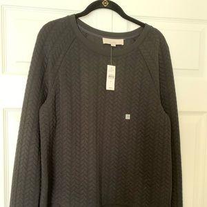 NWT LOFT black sweatshirt